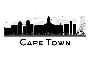 Cape Town City skyline silhouette