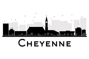 Cheyenne City skyline silhouette