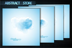 Cloud vector backgrounds