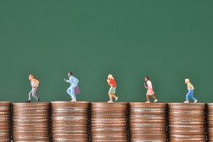 miniature people worker run