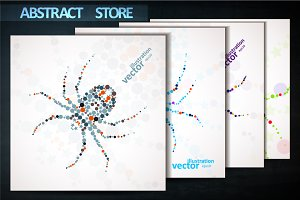Abstract vector spider cartoon