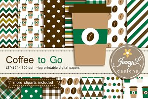 Coffee Digital Paper