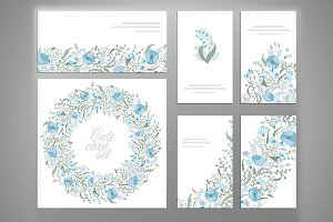 Set of vector floral designs