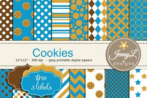 Cookie Digital Paper