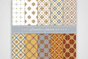 10 Elegant vector seamless patterns