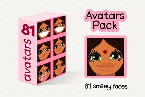 ॐ vector Avatars Pack 81