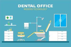 Dental office, flat illustration
