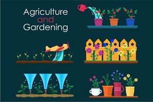 Garden work and gardening projects