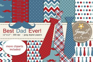 Dad Father's Day Digital Paper