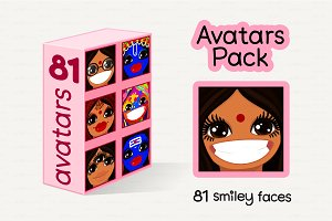ॐ vector Avatars Pack 81