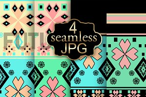 Seamless ethnic ornament. 1