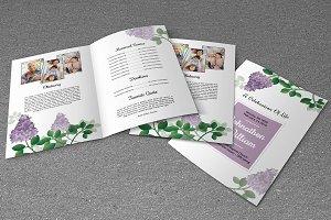 Funeral Program Template-V484