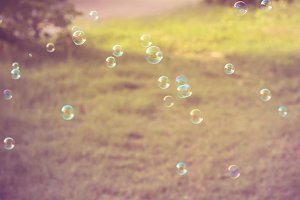 Rainbow bubbles.