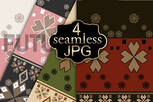 Seamless ethnic ornament. 2