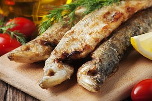 Traditional russian fish smelt