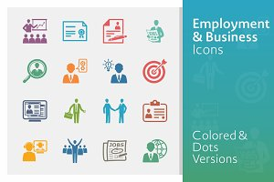 Colored Employment & Business Icons