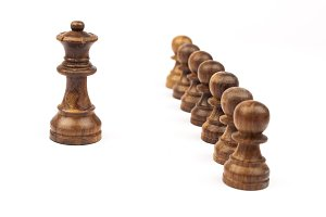 King with 7pawns