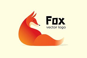 Fox vector logo template