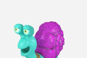 Cartoonish low-poly snail