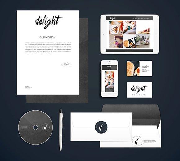 Logo Branding Kit Delight