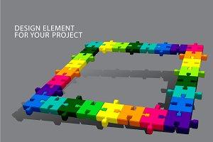 Puzzle vector element