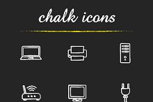 Electronic equipment icons. Vector