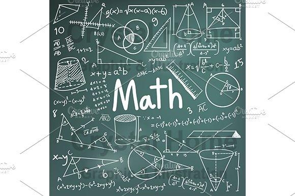Math education blackboard doodle