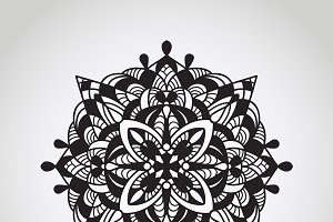 Vector circle pattern, mandala, dood