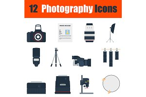 Photography icon set