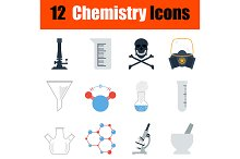 Chemistry icon set