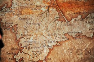 Old vintage retro ancient map