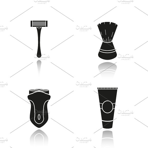 Shaving equipment icons. Vector - Icons