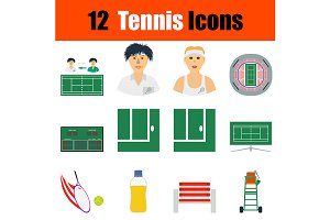 12 Tennis icons