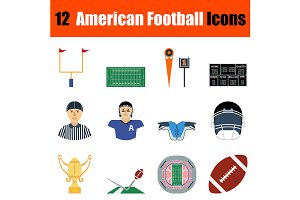 12 American football icons