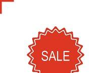 Sale sticker. Vector icon