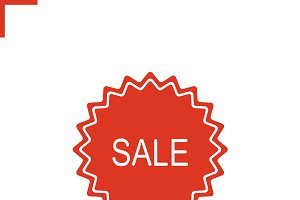Sale sticker. Vector icon