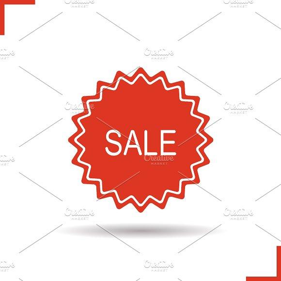 Sale sticker. Vector icon - Icons