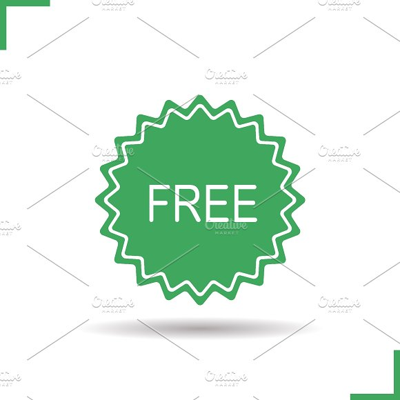 Free Sale Badge Icon Vector