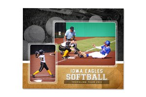 Softball Memory Mate Template - MM2