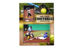 Softball Memory Mate Template - MM1
