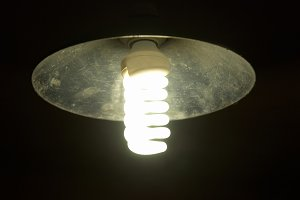 Lampshade with energy saving lamp