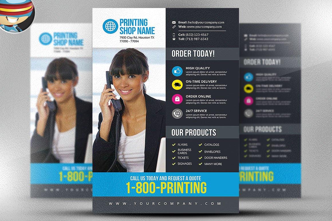 printing services flyer template v3 flyer templates on creative printing services flyer template v3 flyer templates on creative market
