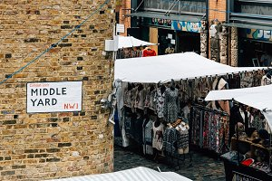 Market stalls in London
