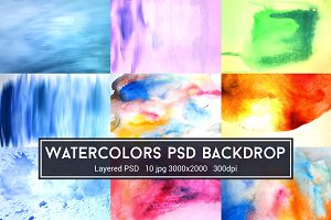 Watercolors PSD Backdrop