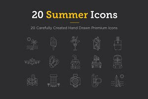 20 Summer Icons | Premium Icon Set