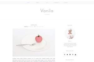 Responsive Blogger Template - Vanila