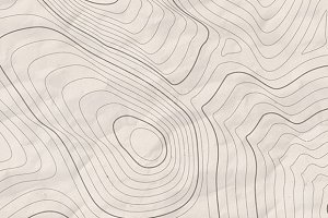 8 Vector Topographic Map Contours