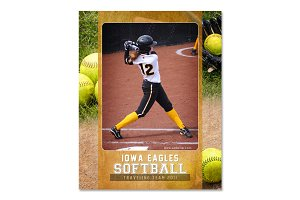 Softball Memory Mate Template - Ind1