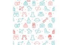 Wedding Background Pattern. Vector