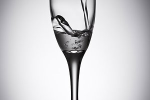 water glass with back